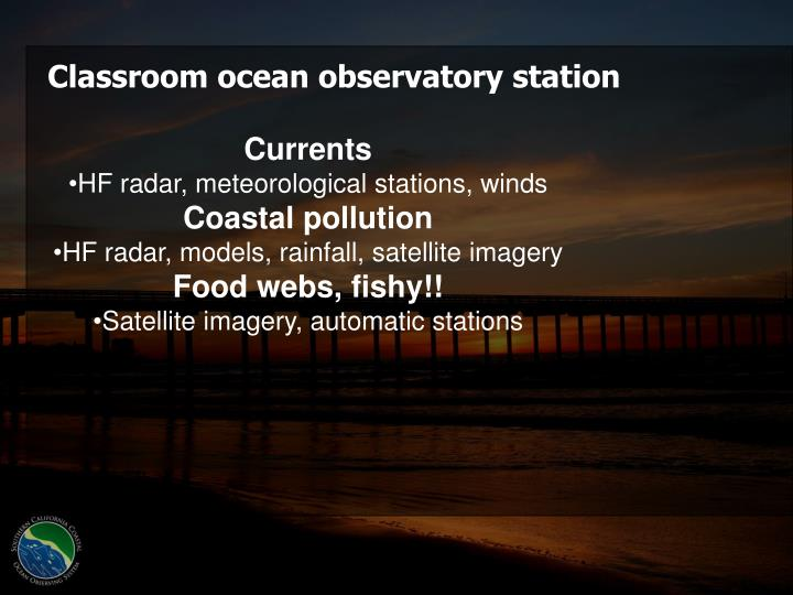 Classroom ocean observatory station