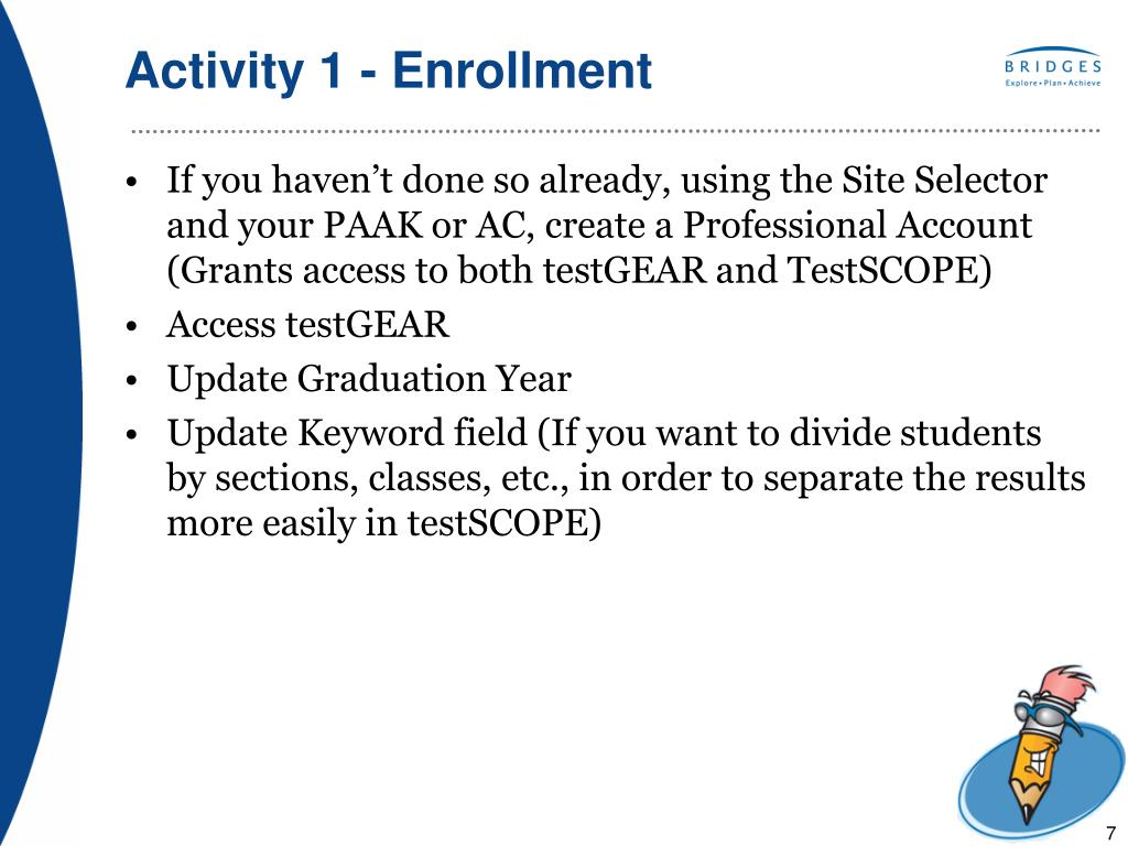 Activity 1 - Enrollment