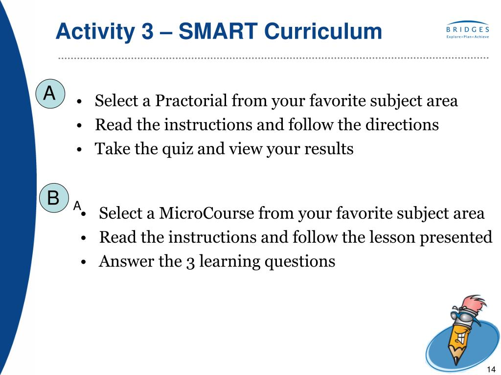 Activity 3 – SMART Curriculum