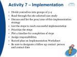 activity 7 implementation