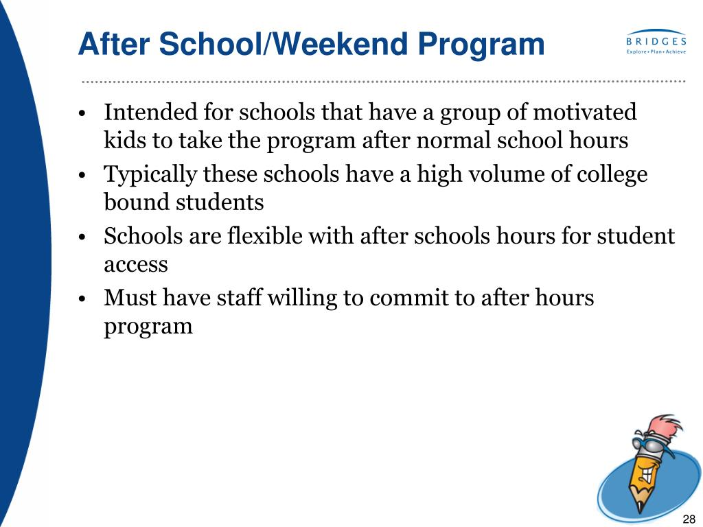 After School/Weekend Program