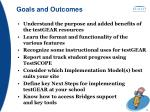goals and outcomes