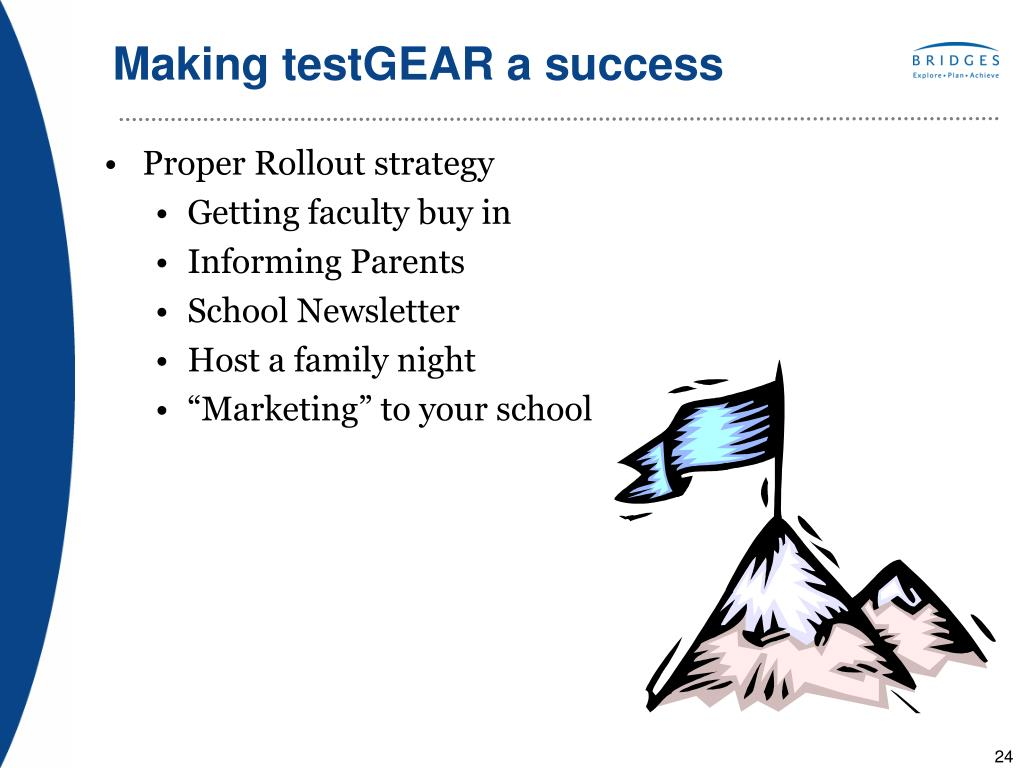 Making testGEAR a success