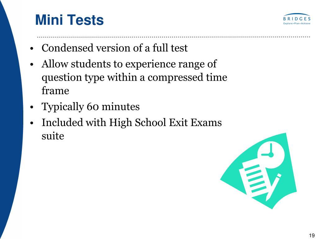 Mini Tests