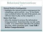 behavioral interventions59