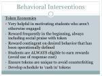 behavioral interventions62