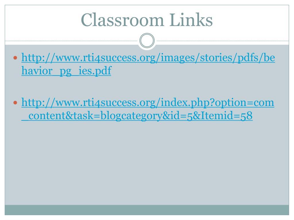 Classroom Links