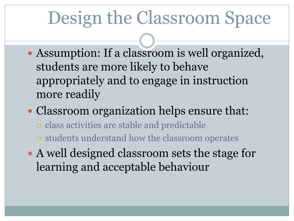 Design the Classroom Space
