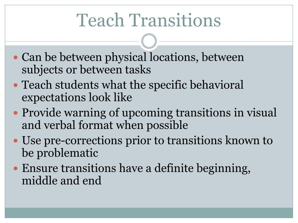 Teach Transitions