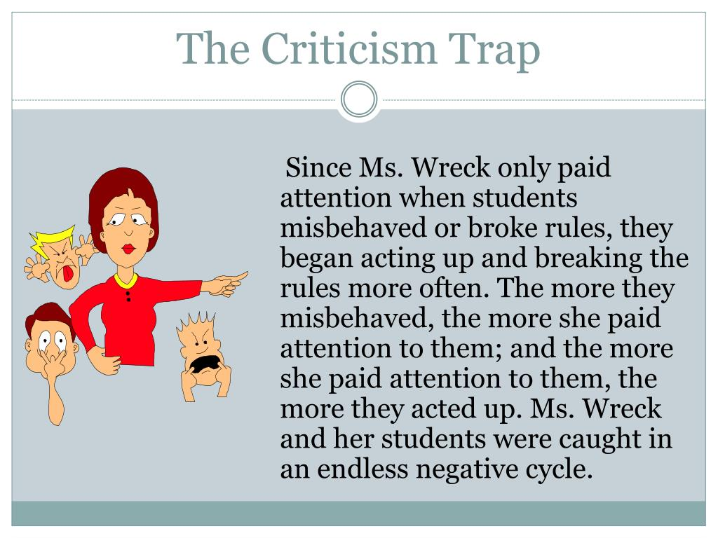 The Criticism Trap