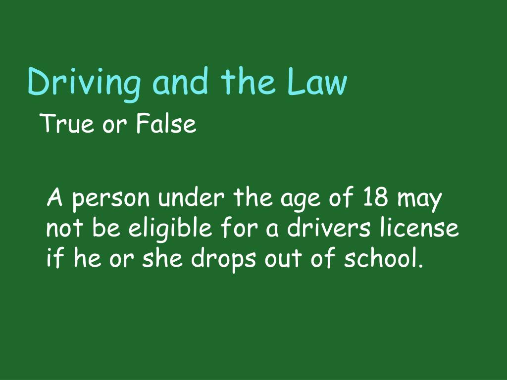 Driving and the Law