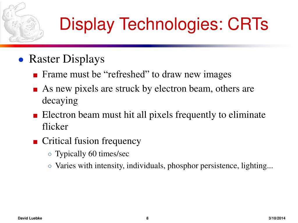 Display Technologies: CRTs