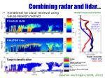combining radar and lidar