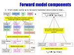 forward model components