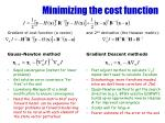 minimizing the cost function