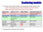 scattering models