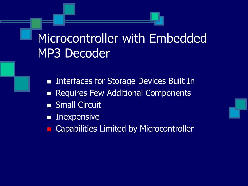 Microcontroller with Embedded MP3 Decoder