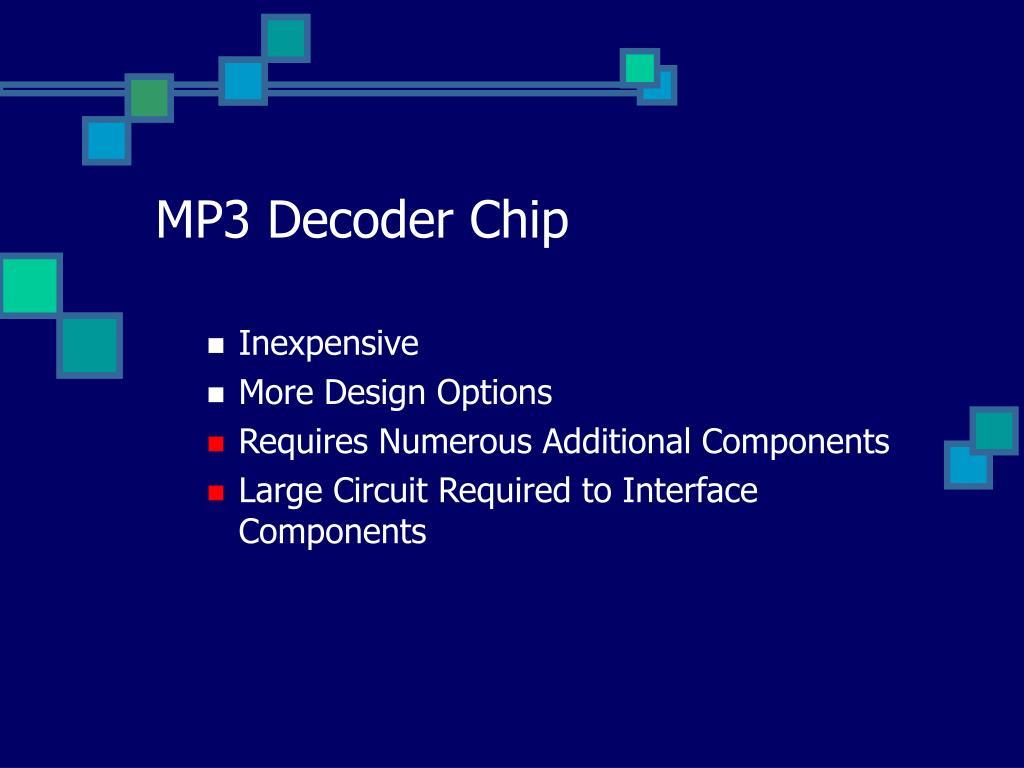 MP3 Decoder Chip