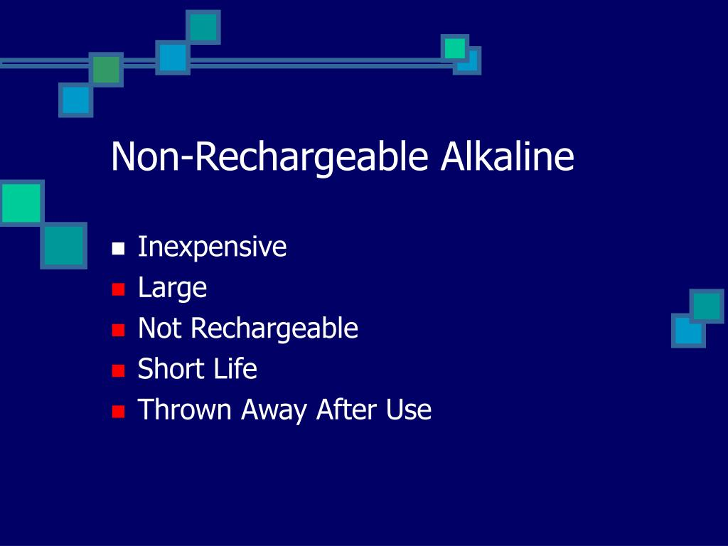 Non-Rechargeable Alkaline