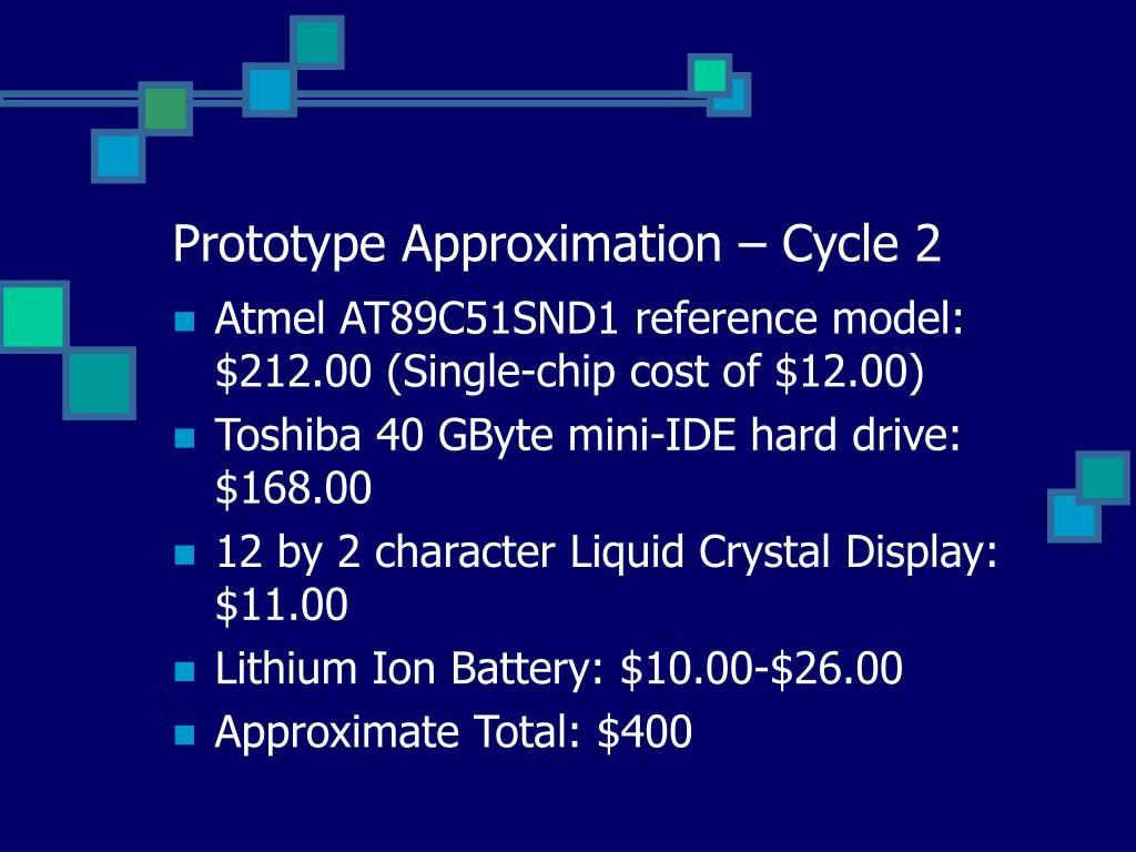 Prototype Approximation – Cycle 2