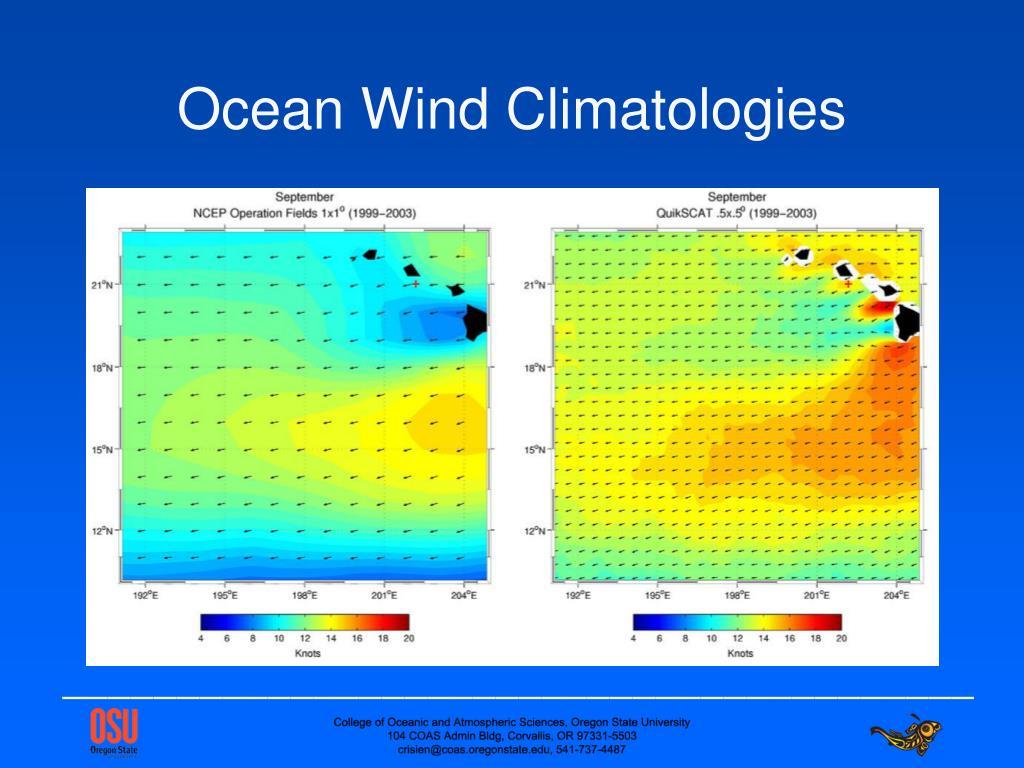 Ocean Wind Climatologies