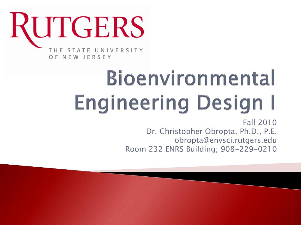 Bioenvironmental Engineering Design I