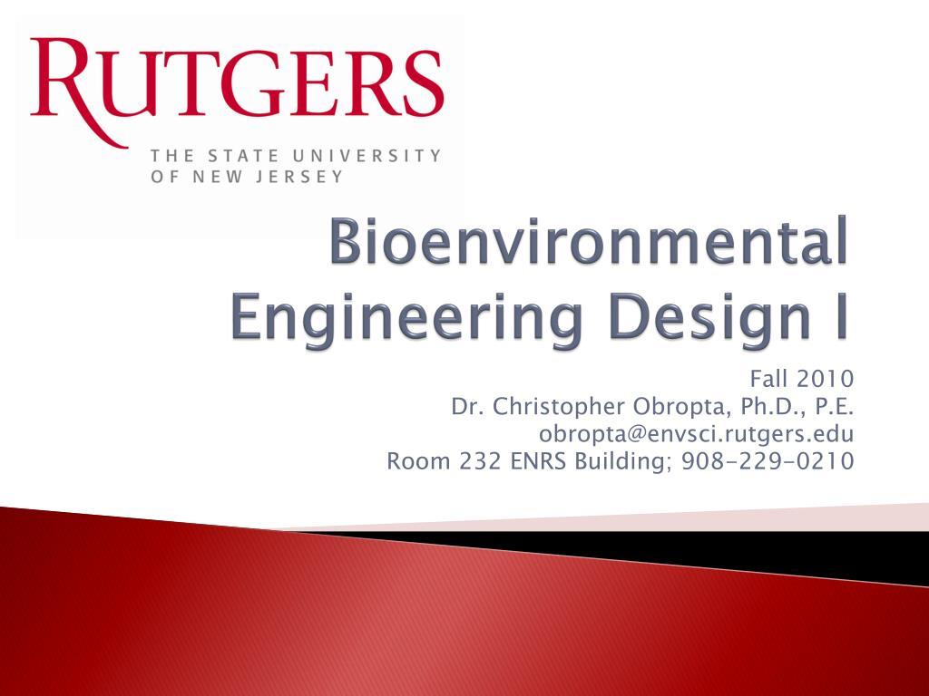 bioenvironmental engineering design i