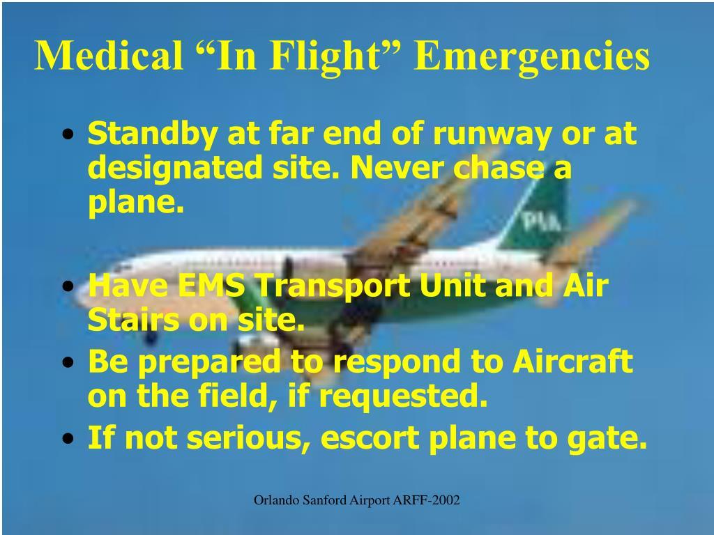 "Medical ""In Flight"" Emergencies"