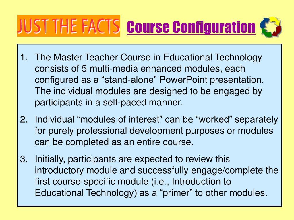 Course Configuration