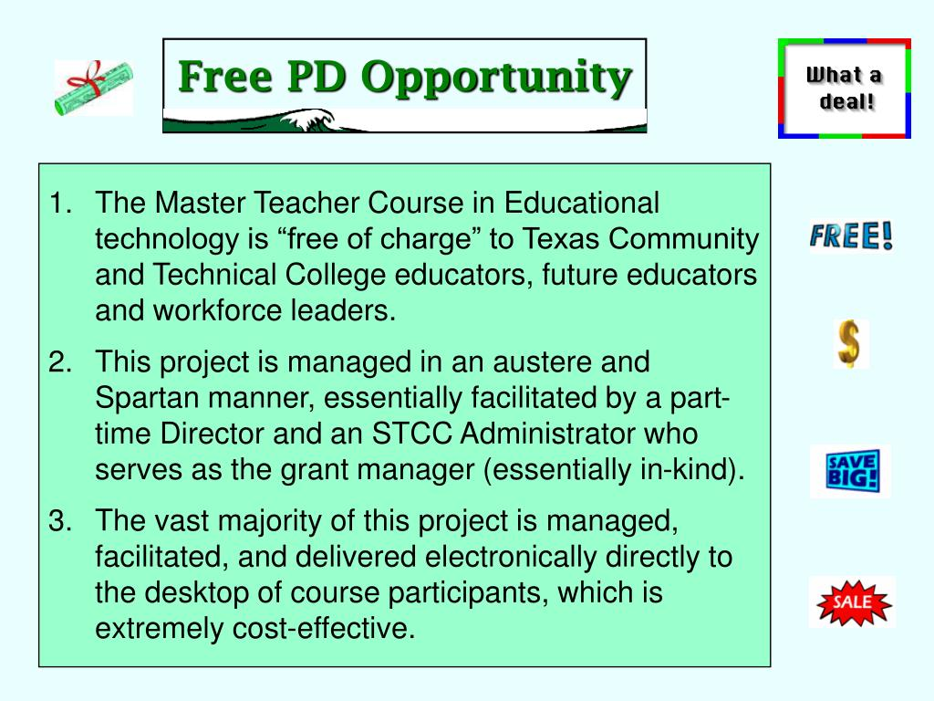 Free PD Opportunity