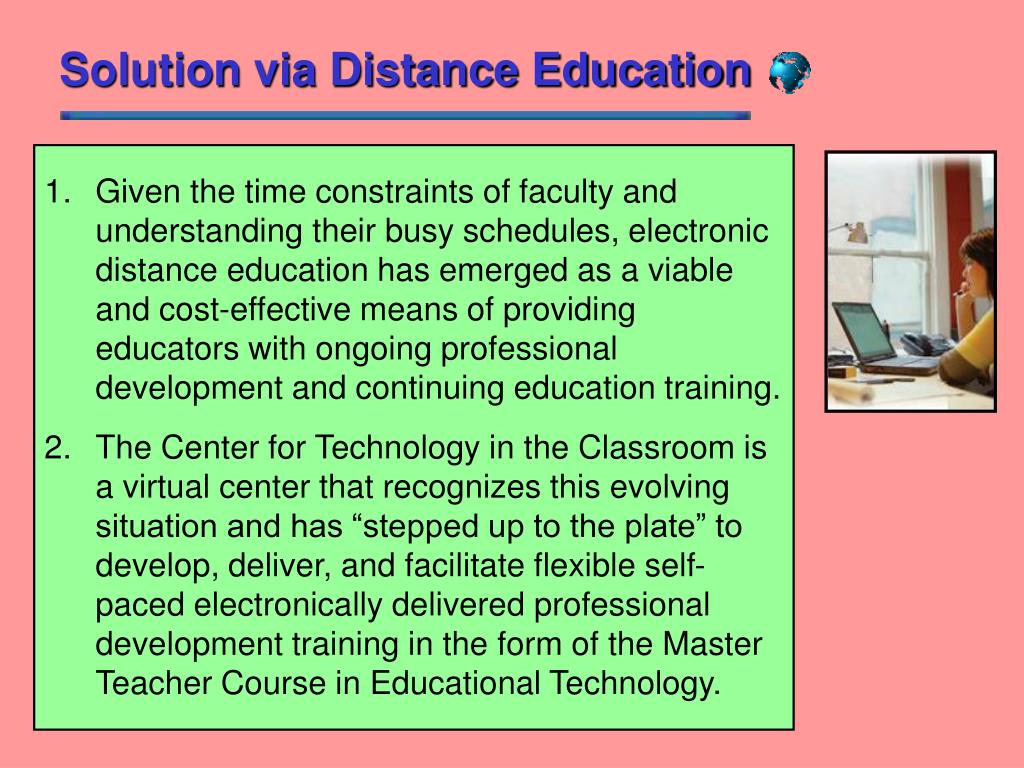Solution via Distance Education