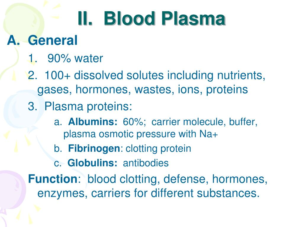 II.  Blood Plasma