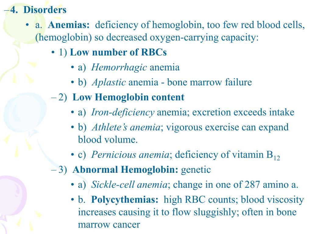 4.  Disorders