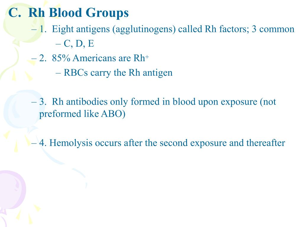 C.  Rh Blood Groups