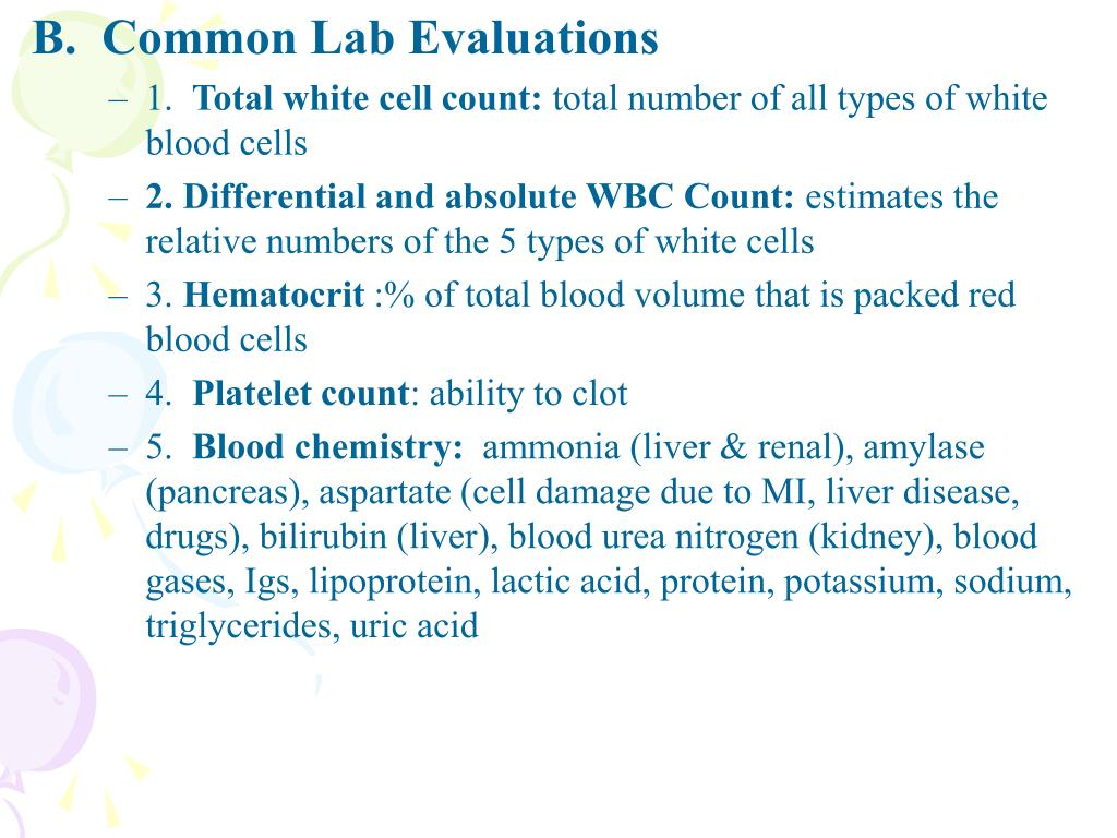 B.  Common Lab Evaluations