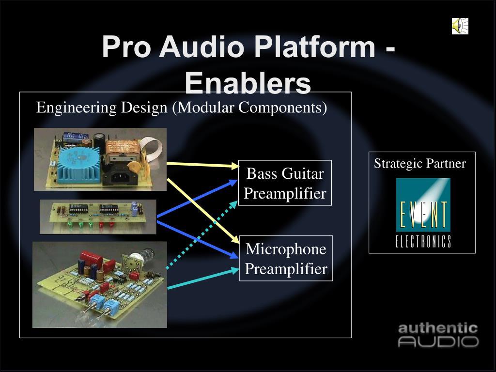 Pro Audio Platform - Enablers
