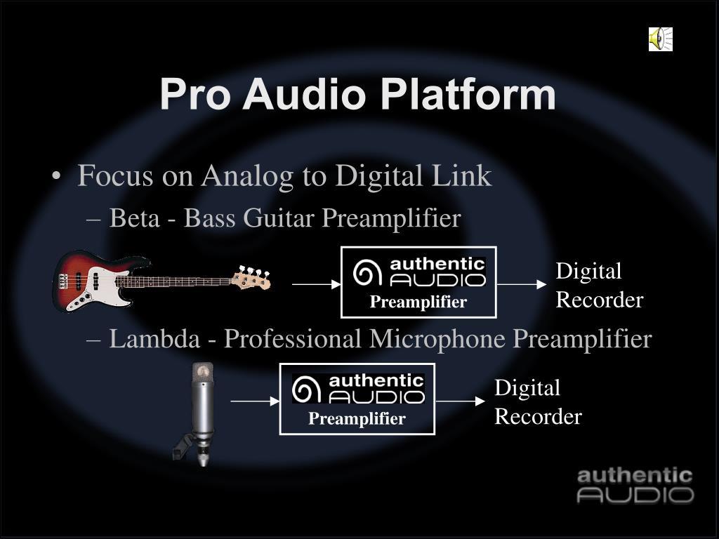 Pro Audio Platform