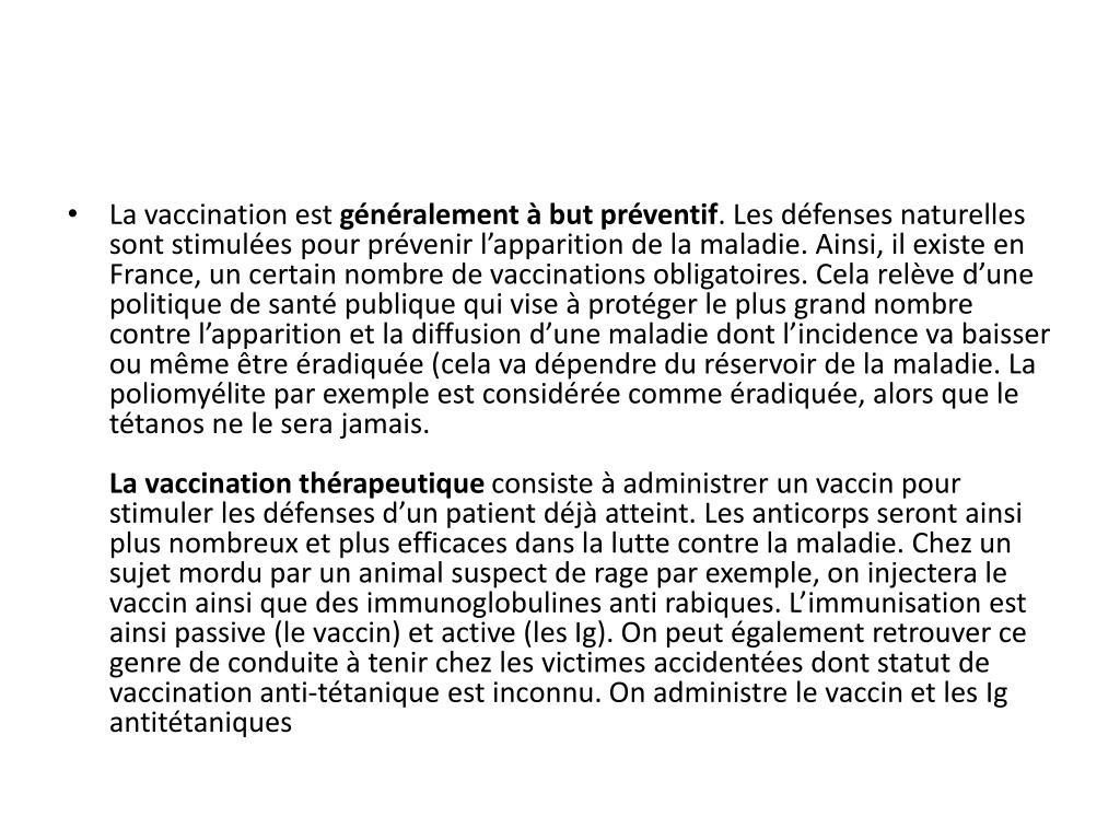 La vaccination est