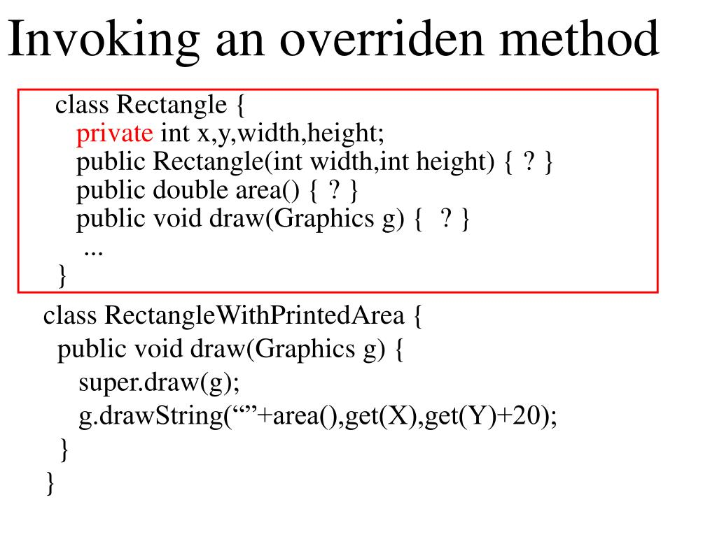 Invoking an overriden method