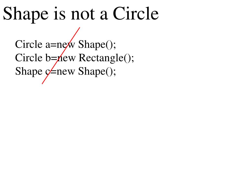 Shape is not a Circle