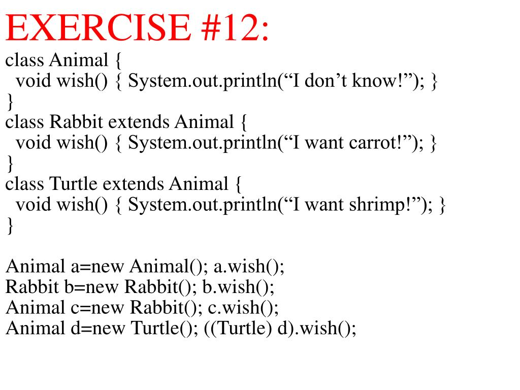 EXERCISE #12: