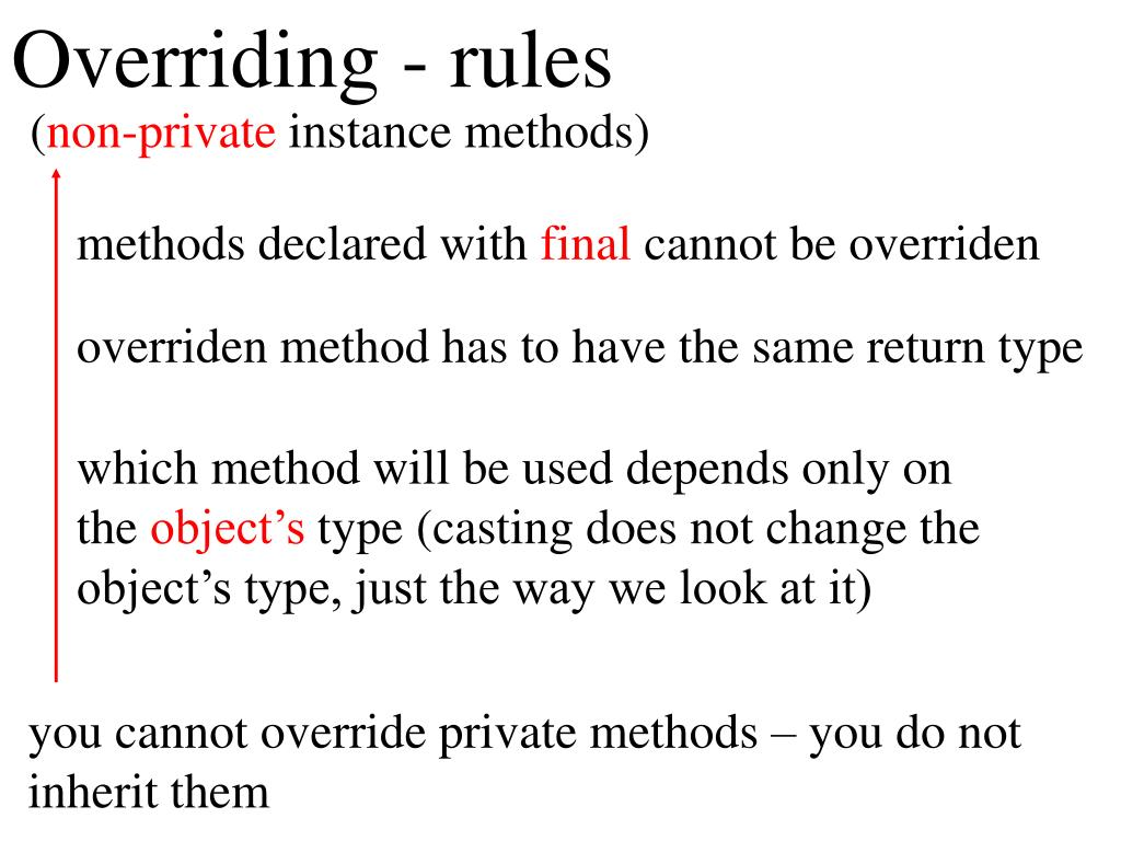Overriding - rules