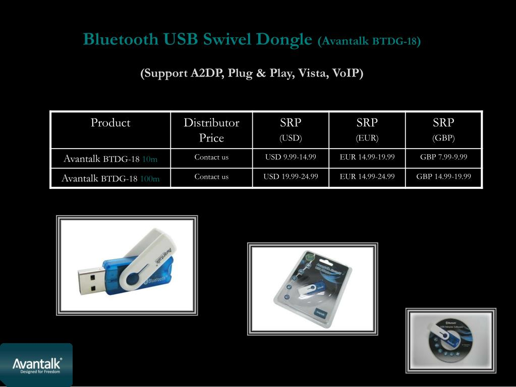 Bluetooth USB Swivel Dongle
