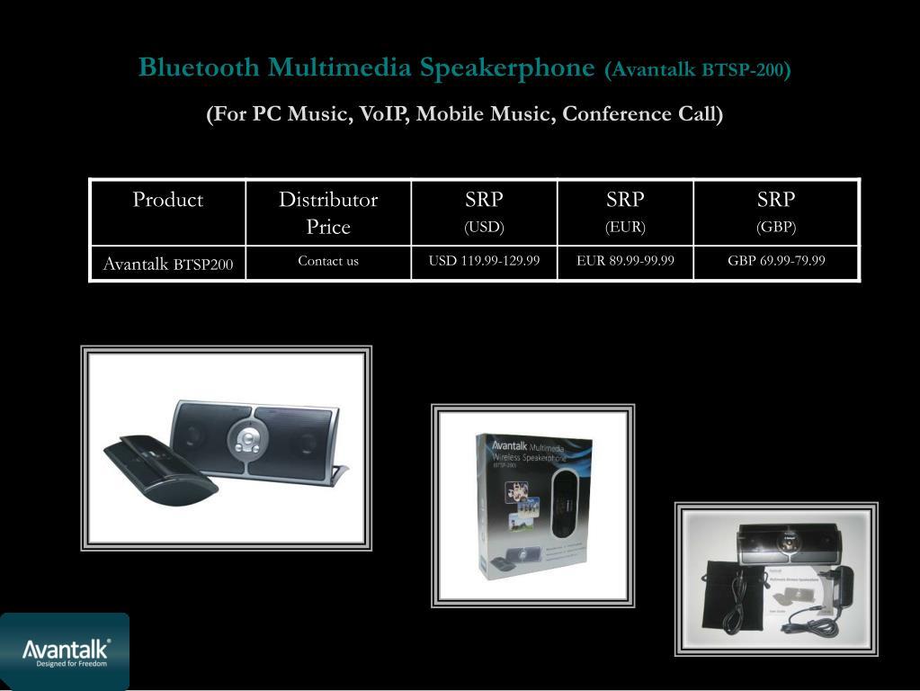 Bluetooth Multimedia Speakerphone