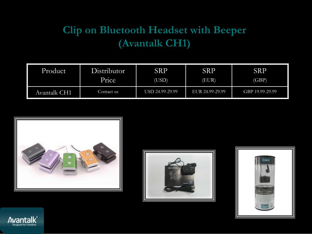 Clip on Bluetooth Headset with Beeper