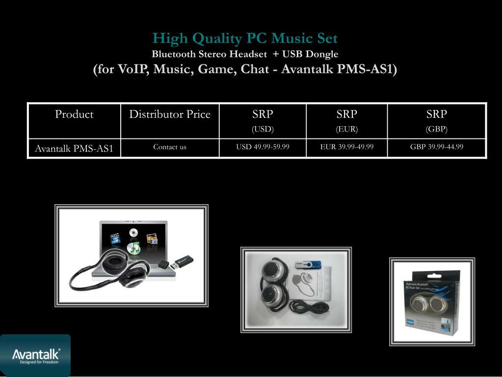 High Quality PC Music Set