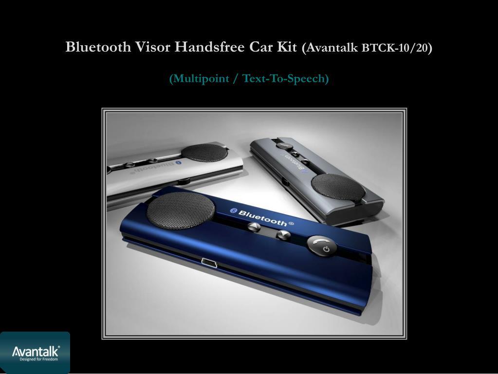 Bluetooth Visor Handsfree Car Kit