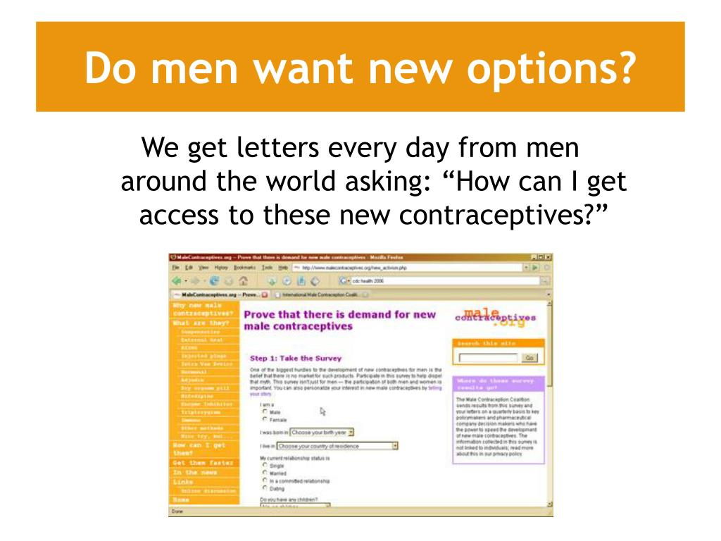 Do men want new options?