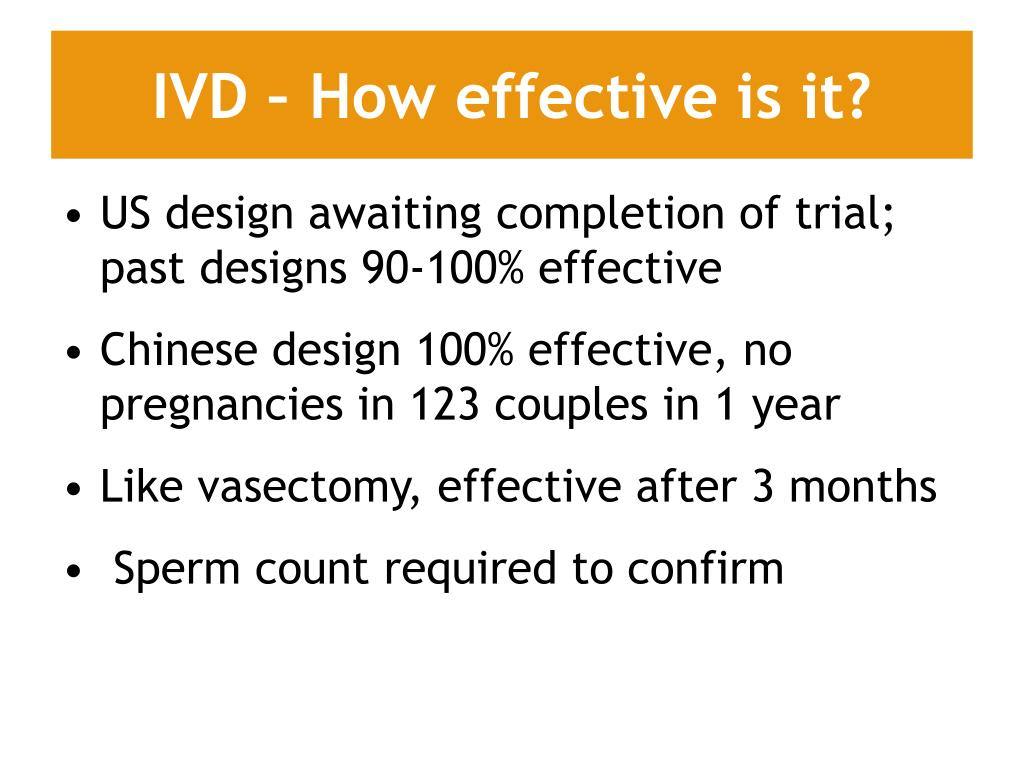 IVD – How effective is it?