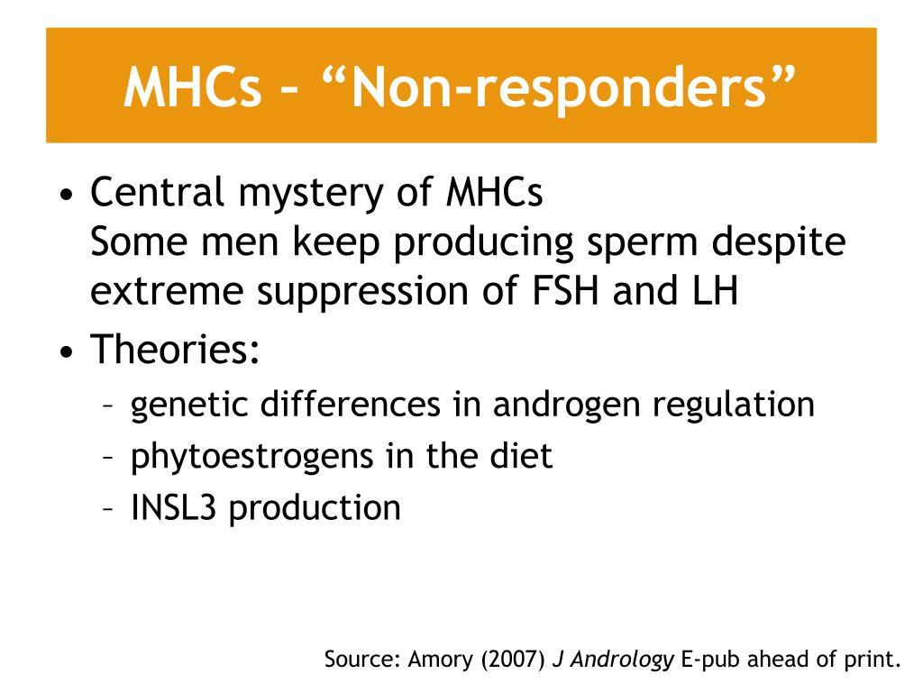 """MHCs – """"Non-responders"""""""